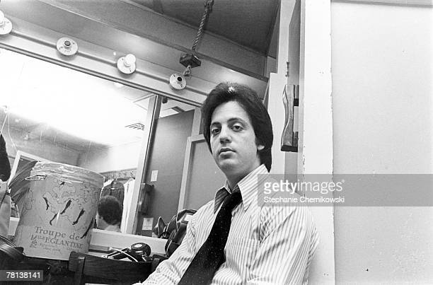 Singer/songwriter Billy Joel relaxes backstage after his concert in New York City New York in 1976