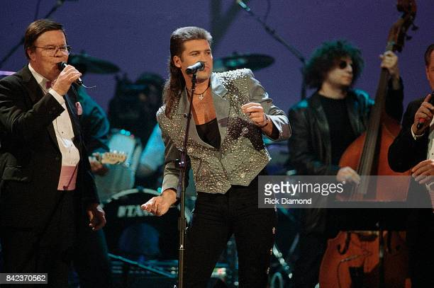 Singer/Songwriter Billy Ray Cyrus performs during ElvisThe Tribute at The Pyramid Arena in Memphis Tennessee October 08 1994