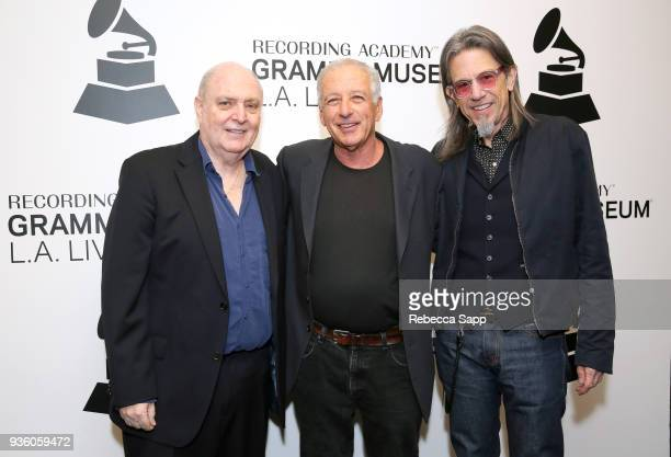 Singer/songwriter Billy Vera director Alan Swyer and GRAMMY Museum Executive Director Scott Goldman attend Reel To Reel Harlem To Hollywood Featuring...
