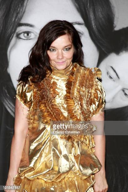 Singer/songwriter Bjork attends the closing of Marina Abramovic's 'The Artist is Present' hosted by Givenchy at The Museum of Modern Art on June 1...