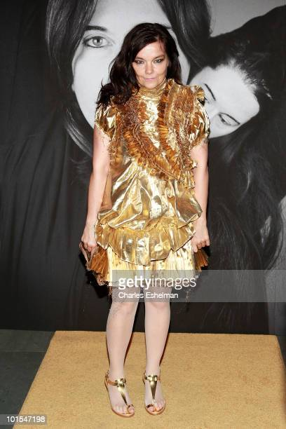 Singer/songwriter Bjork attends the closing of Marina Abramovic's The Artist is Present hosted by Givenchy at The Museum of Modern Art on June 1 2010...