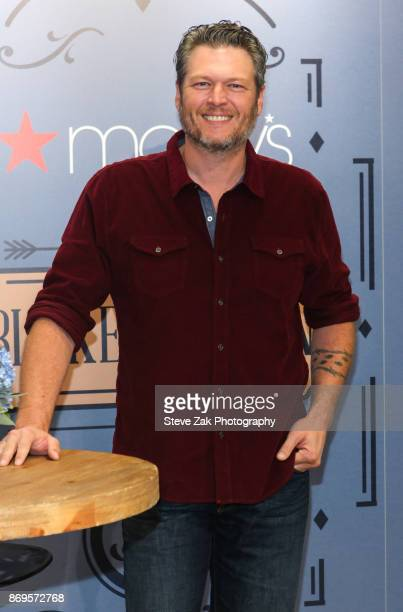 Singer/songwriter Blake Shelton attends the BS By Blake Shelton Launch at Macy's Herald Square on November 2 2017 in New York City