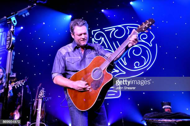 Singersongwriter Blake Shelton performs onstage for Pandora Sounds Like You Country on November 3 2017 in Nashville Tennessee