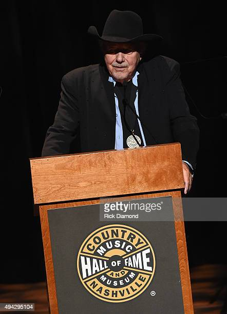 Singer/Songwriter Bobby Bare inducts Jim Ed Brown and The Browns at The Country Music Hall of Fame 2015 Medallion Ceremony at the Country Music Hall...