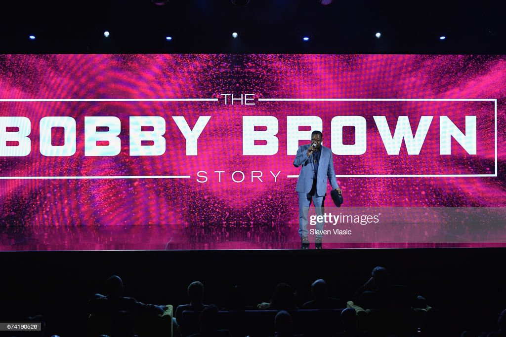 Singer-songwriter Bobby Brown speaks onstage during the 2017 BET Upfront NY at PlayStation Theater on April 27, 2017 in New York City.