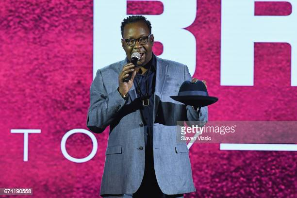 Singersongwriter Bobby Brown speaks onstage during the 2017 BET Upfront NY at PlayStation Theater on April 27 2017 in New York City