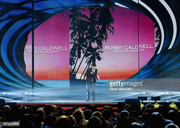 Singer/songwriter Bobby Caldwell performs onstage at the Soul Train Awards 2013 at the Orleans Arena on November 8 2013 in Las Vegas Nevada