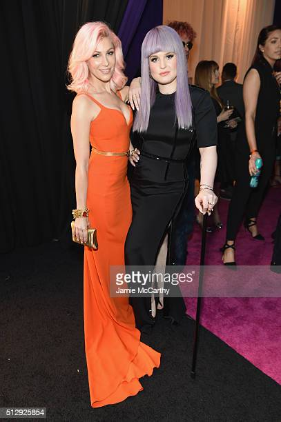 Singersongwriter Bonnie McKee and tv personality Kelly Osbourne attend the 24th Annual Elton John AIDS Foundation's Oscar Viewing Party at The City...