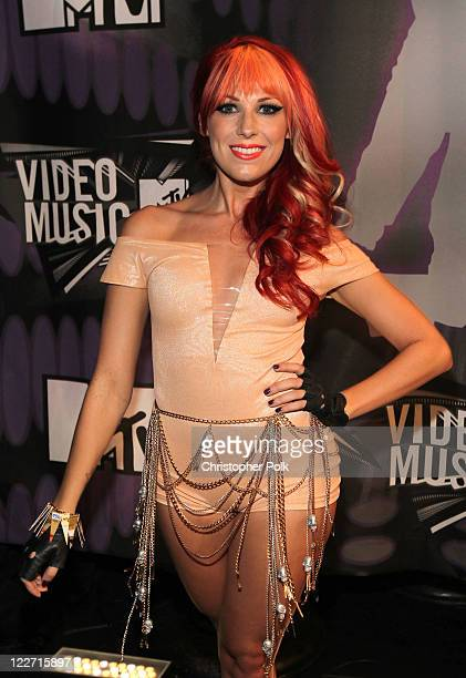 Singer/songwriter Bonnie McKee arrives at the 2011 MTV Video Music Awards at Nokia Theatre LA LIVE on August 28 2011 in Los Angeles California