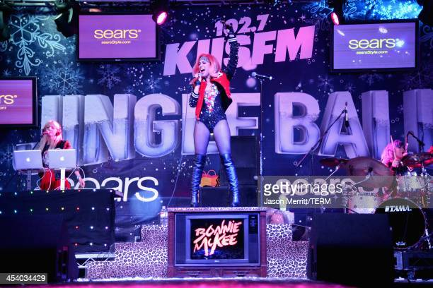 Singer/songwriter Bonnie McKee performs onstage at KIIS FM Jingle Ball Village at KIIS FM's Jingle Ball 2013 preshow at Chick Hearn Court on December...