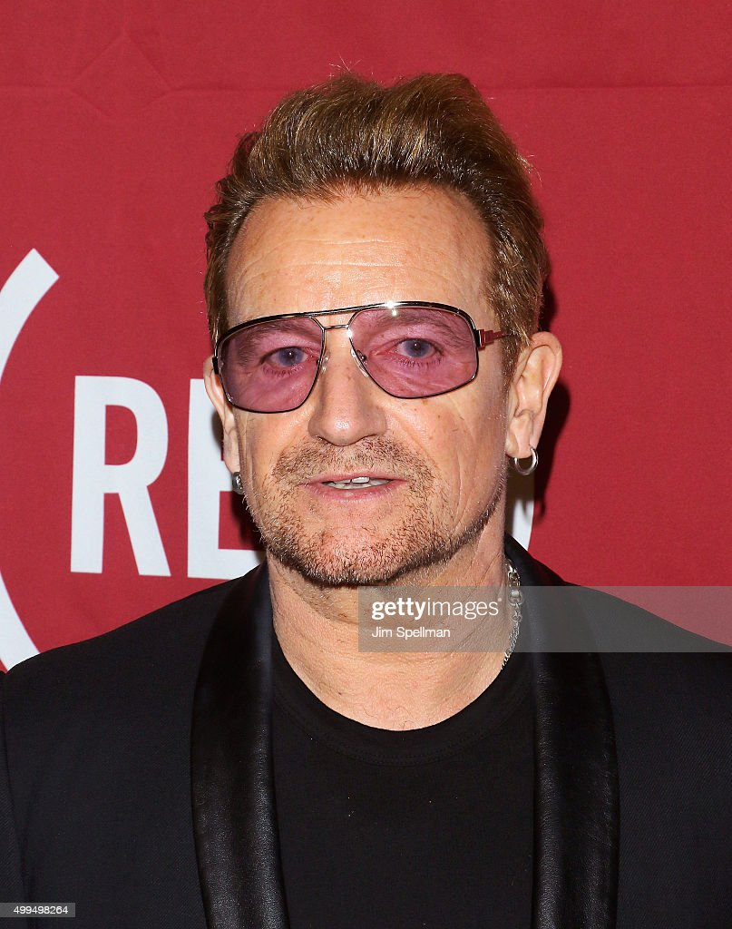 Singer/songwriter Bono attends the ONE And (RED)'s 'It Always Seems Impossible Until It Is Done' at Carnegie Hall on December 1, 2015 in New York City.
