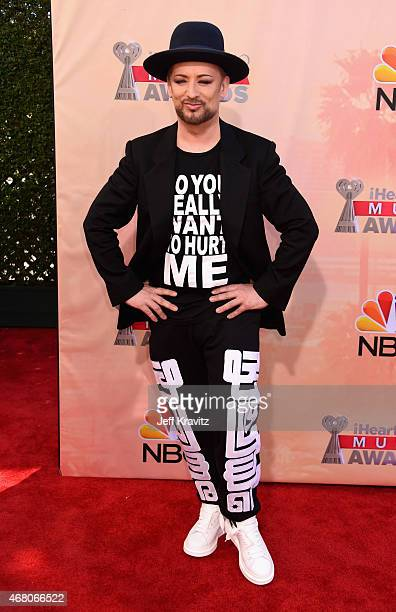 Singersongwriter Boy George attends the 2015 iHeartRadio Music Awards which broadcasted live on NBC from The Shrine Auditorium on March 29 2015 in...