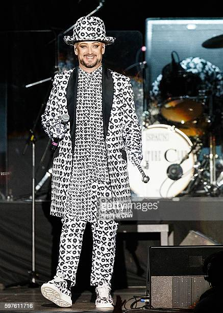 Singersongwriter Boy George of Culture Club performs onstage during PNE Summer Night Concert Series at PNE Amphitheatre on August 28 2016 in...