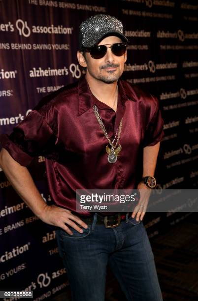 Singersongwriter Brad Paisley attends the Nashville Disco Party Benefiting Alzheimer's Association on June 4 2017 in Nashville Tennessee