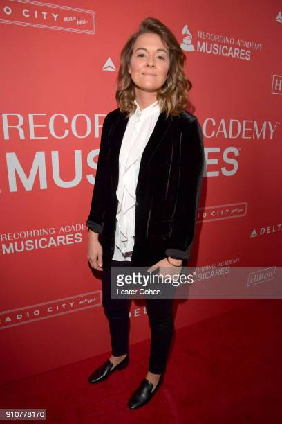 Singersongwriter Brandi Carlile attends MusiCares Person of the Year honoring Fleetwood Mac at Radio City Music Hall on January 26 2018 in New York...