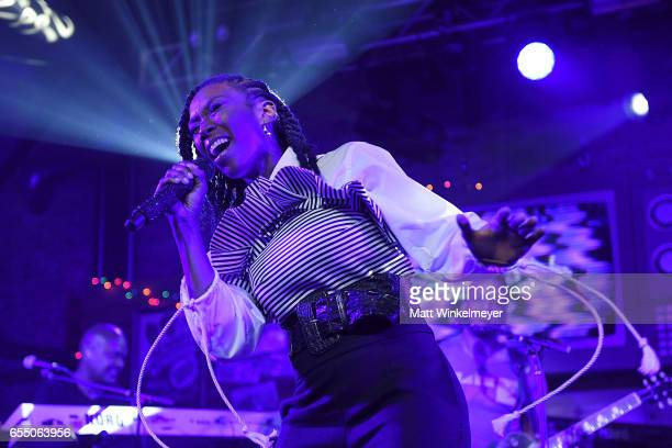 Singersongwriter Brandy and The Roots perform during the Budlight Event 2017 SXSW Conference and Festivals on March 18 2017 in Austin Texas