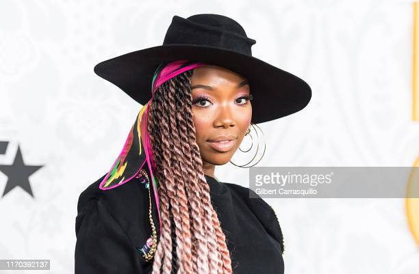 Singer-songwriter Brandy attends 2019 Black Girls Rock! at NJ Performing Arts Center on August 25, 2019 in Newark, New Jersey.