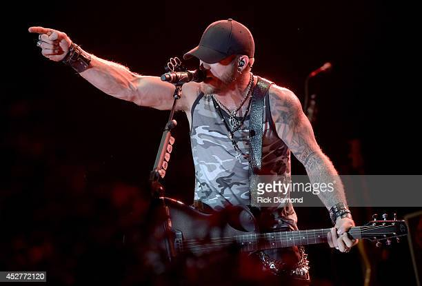 Singer/Songwriter Brantley Gilbert Headlines Country Thunder USA Day 3 July 26 2014 in Twin Lakes Wisconsin