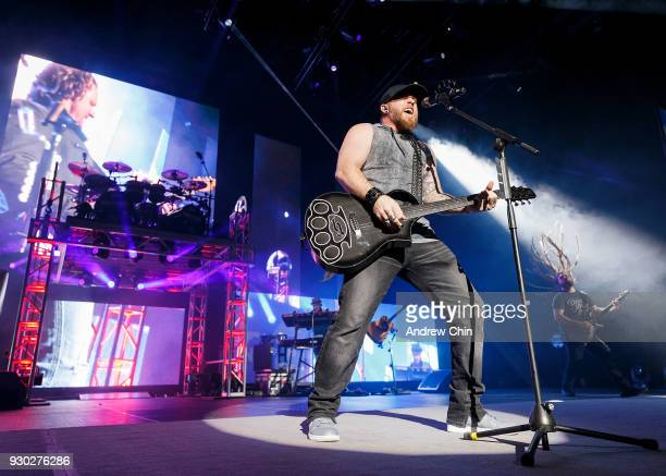 Singersongwriter Brantley Gilbert performs on stage at Abbotsford Centre on March 10 2018 in Abbotsford Canada