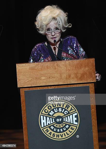 Singer/Songwriter Brenda Lee inducts Grady Martin into The Country Music hall of Fame during The Country Music Hall of Fame 2015 Medallion Ceremony...