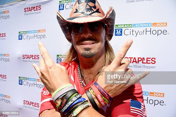 Singersongwriter Bret Michaels attends the 26th Annual City of Hope Celebrity Softball Game at First Tennessee Park on June 7 2016 in Nashville...