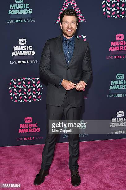 Singersongwriter Brett Eldredge attends the 2016 CMT Music awards at the Bridgestone Arena on June 8 2016 in Nashville Tennessee
