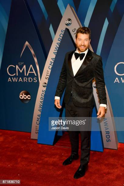 Singersongwriter Brett Eldredge attends the 51st annual CMA Awards at the Bridgestone Arena on November 8 2017 in Nashville Tennessee