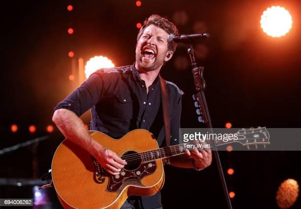 Singersongwriter Brett Eldredge performs during day 1 of the 2017 CMA Music Festival on June 8 2017 in Nashville Tennessee