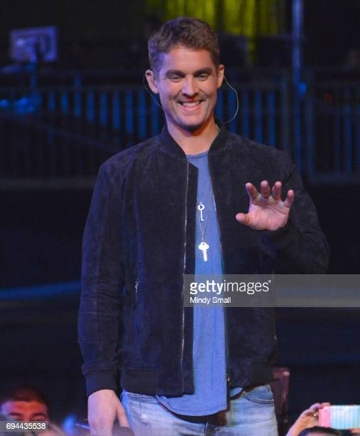 Singer/songwriter Brett Young performs at Nissan Stadium during day 2 of the 2017 CMA Music Festival on June 9 2017 in Nashville Tennessee
