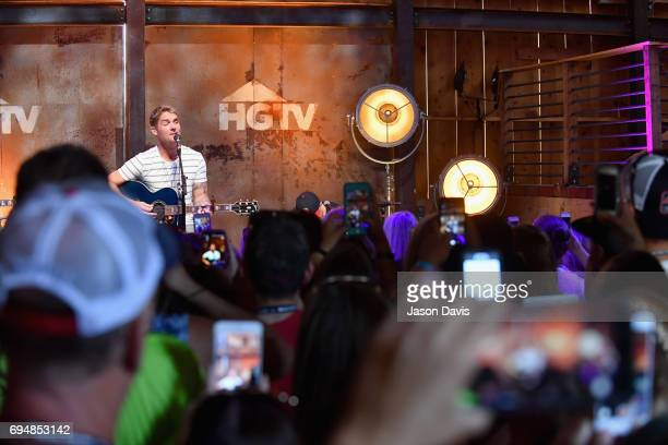 Singersongwriter Brett Young performs onstage at the HGTV Lodge during CMA Music Fest on June 11 2017 in Nashville Tennessee