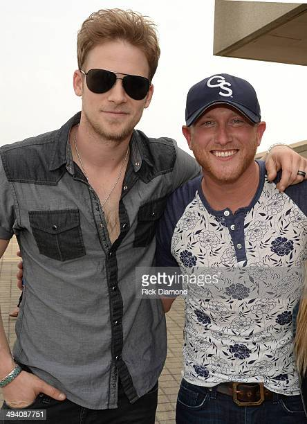 Singer/Songwriter Brian Kelley Florida Georgia Line helps celebrate Singer/Songwriter Cole Swindell's First No1 Song Chillin' It at BMI Nashville on...