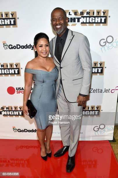 Singersongwriter Brian McKnight and Leilani Mendoza attend Muhammad Ali's Celebrity Fight Night XXIII at the JW Marriott Desert Ridge Resort Spa on...