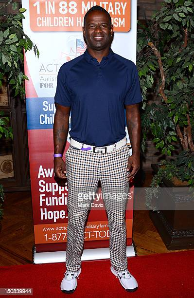 Singer/songwriter Brian McKnight arrives to the ACT Today 6th Annual Charity Golf Classic held at the North Ranch Country Club on August 27 2012 in...