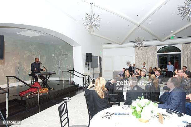 Singer-songwriter Brian McKnight performs at the Fundraiser Event for Rock The Elephant at Hotel Bel-Air on October 27, 2016 in Los Angeles,...