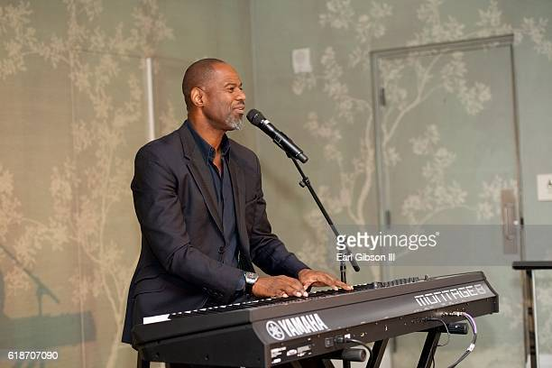 Singersongwriter Brian McKnight performs at the Fundraiser Event for Rock The Elephant at Hotel BelAir on October 27 2016 in Los Angeles California