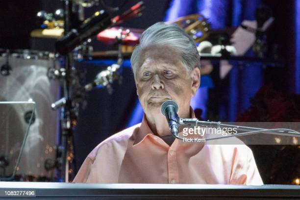 Singersongwriter Brian Wilson performs in concert during Brian Wilson Presents The Christmas Album Live at ACL Live on December 15 2018 in Austin...
