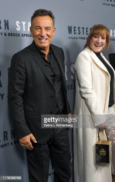 US singersongwriter Bruce Springsteen and his wife Patti Scialfa attend the New York special screening of Western Stars at Metrograph at Metrograph...