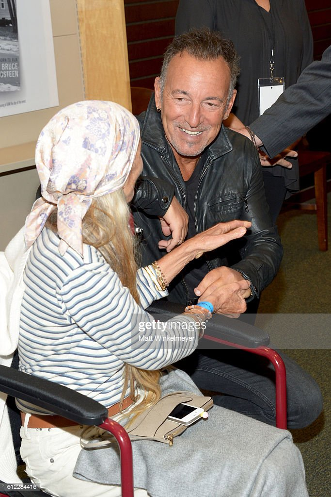 Singer-songwriter Bruce Springsteen attends the Bruce Springsteen Fan Event for 'Born To Run' at Barnes & Noble at The Grove on October 3, 2016 in Los Angeles, California.
