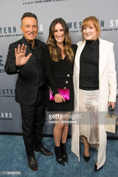 US singersongwriter Bruce Springsteen his daughter Jessica Springsteen and his wife Patti Scialfa attend the New York special screening of Western...