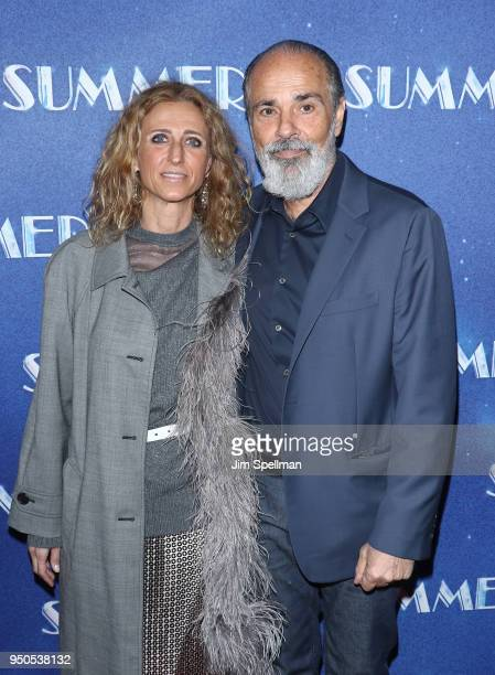 Singer/songwriter Bruce Sudano and guest attend the Summer The Donna Summer Musical Broadway opening night at LuntFontanne Theatre on April 23 2018...