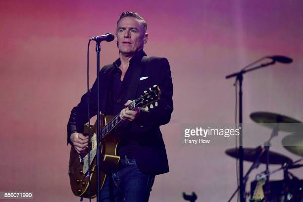 Singer-songwriter Bryan Adams performs during the closing ceremony of the Invictus Games 2017 at Air Canada Centre on September 30, 2017 in Toronto,...