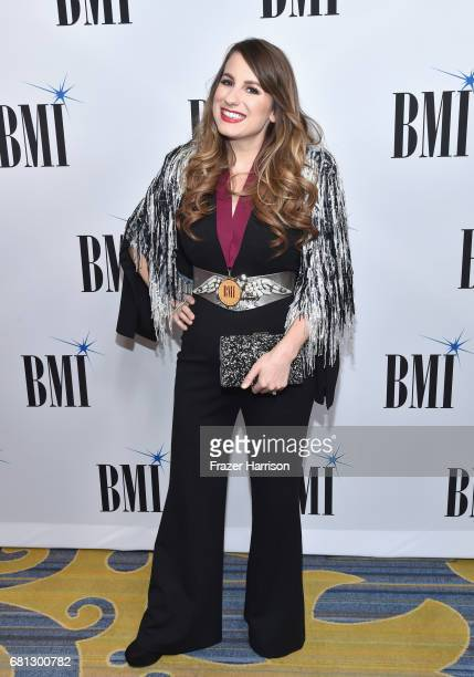 Singersongwriter Caitlyn Smith at the Broadcast Music Inc honors Barry Manilow at the 65th Annual BMI Pop Awards on May 9 2017 in Los Angeles...
