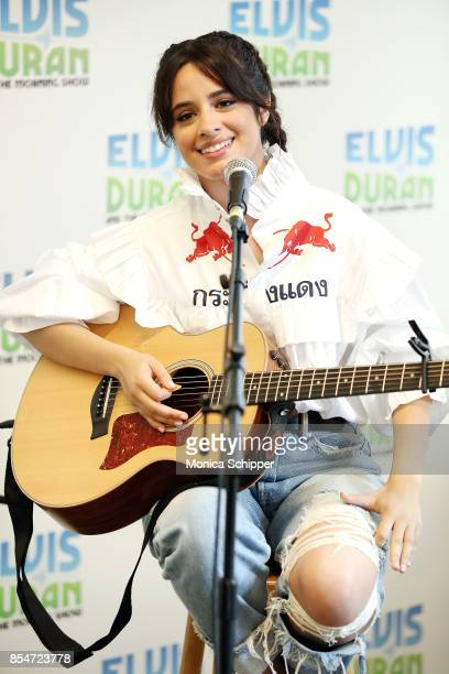 Singersongwriter Camila Cabello performs when she visits The Elvis Duran Z100 Morning Show at Z100 Studio on September 27 2017 in New York City