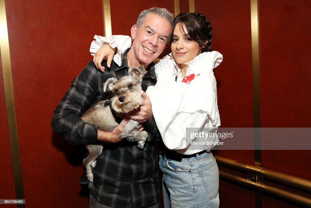 Singer Songwriter Camila Cabello Poses For A Photo With Host Elvis