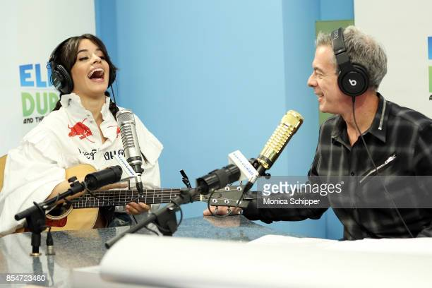 Singersongwriter Camila Cabello speaks with host Elvis Duran when she visits 'The Elvis Duran Z100 Morning Show' at Z100 Studio on September 27 2017...