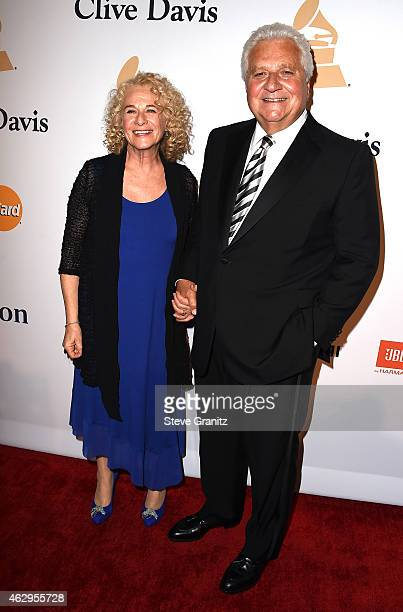 Singersongwriter Carole King and Chairman/CEO of Sony/ATV Music Publishing Martin Bandier attend the PreGRAMMY Gala and Salute To Industry Icons...