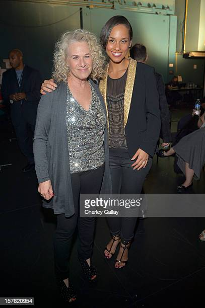 Singer/songwriter Carole King and singer Alicia Keys attend a celebration of Carole King and her music to benefit Paul Newman's The Painted Turtle...