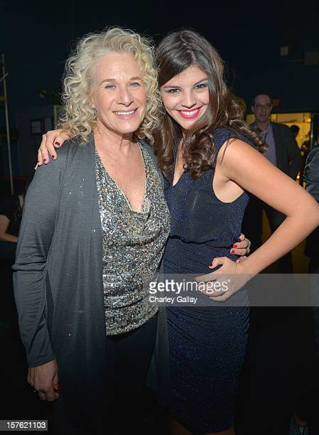 Singer/songwriter Carole King and singer Nikki Yanofsky attend a celebration of Carole King and her music to benefit Paul Newman's The Painted Turtle...
