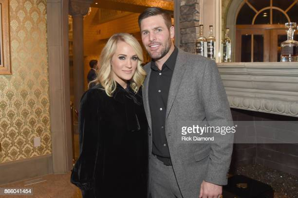 Singersongwriter Carrie Underwood and NHL Player Mike Fisher attend Nashville Shines for Haiti benefiting Sean Penn's J/P Haitian relief organization...