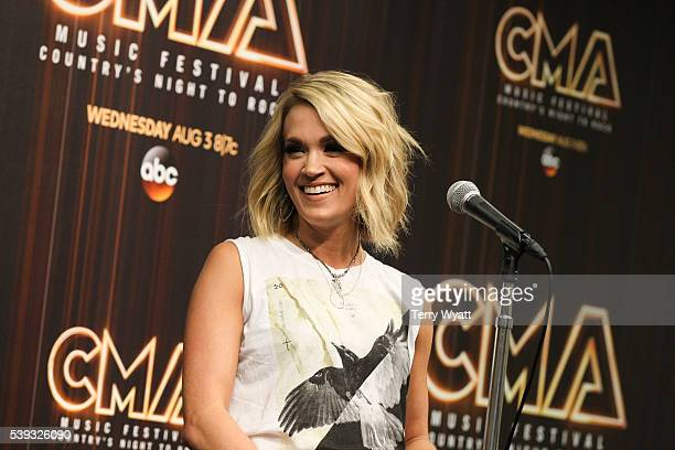 Singersongwriter Carrie Underwood attends a preshow press conference during day 2 of the 2016 CMA Festival on June 10 2016 in Nashville Tennessee